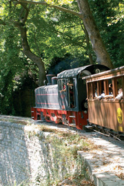 gopelion.gr | The little train of Pelion is departing